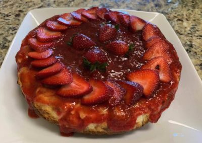 fresh strawberry cheese cake from Picciocchi's Pasta Italian Restaurant in Clarks Summit